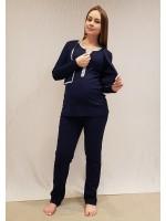 Pijama Bolero e Regata com Ziper Azul Marinho