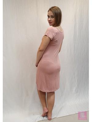 Camisola de amamentação em tecido poa rosa